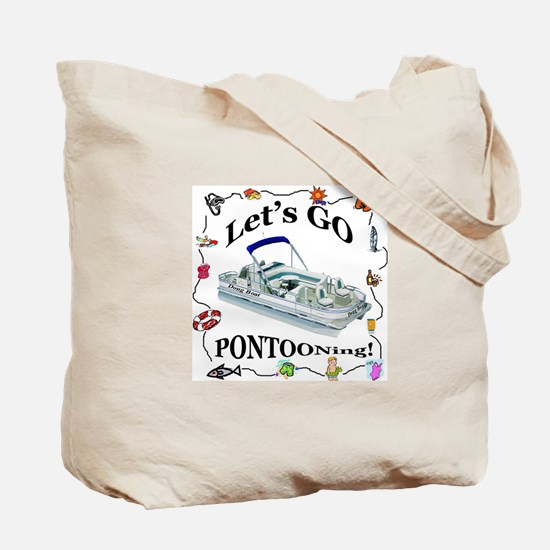 Pontoon Boating Boat Fun Recycle Grocery Tote Bag