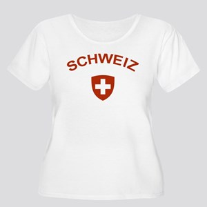 Switzerland Schweiz Women's Plus Size Scoop Neck T
