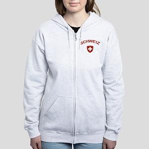 Switzerland Schweiz Women's Zip Hoodie