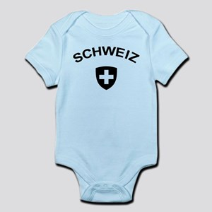 Switzerland Schweiz Infant Bodysuit