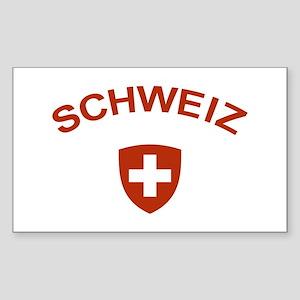 Switzerland Schweiz Rectangle Sticker