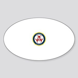Crime Scene Clean Up Clothes Oval Sticker