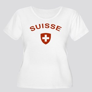 Switzerland suisse Women's Plus Size Scoop Neck T-
