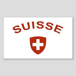 Switzerland suisse Rectangle Sticker