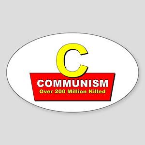 Communism Oval Sticker