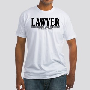 Funny Lawyer Fitted T-Shirt