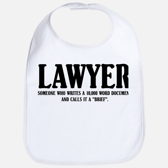 Funny Lawyer Bib