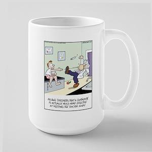 Cantaloupe keeps Doc Away Large Mug