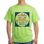 Hispanics Against Sotomayor Green T-Shirt