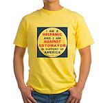 Hispanics Against Sotomayor Yellow T-Shirt
