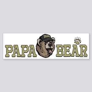 New Papa Bear Dad Bumper Sticker