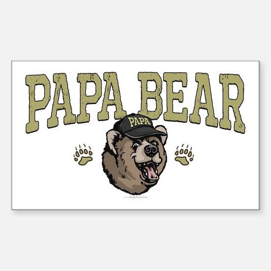 New Papa Bear Dad Rectangle Decal