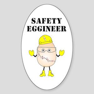 Safety Eggineer Oval Sticker
