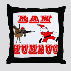 Bah Humbug Throw Pillow