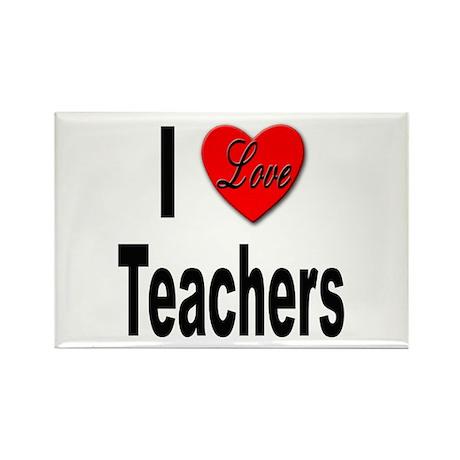 I Love Teachers Rectangle Magnet (10 pack)