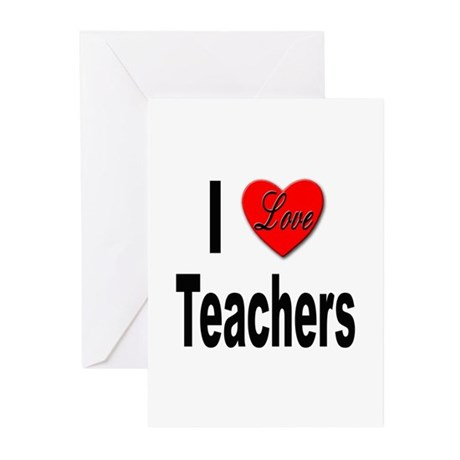 I Love Teachers Greeting Cards (Pk of 10)