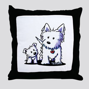 Muggles & Mom Throw Pillow