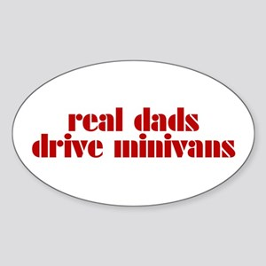 Real Dads Drive Minivans - Oval Sticker