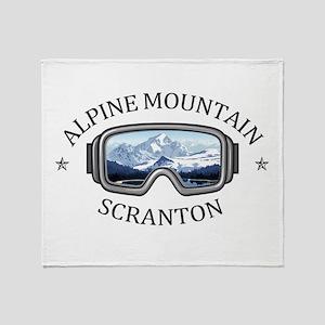 Alpine Mountain Ski & Ride Center - Throw Blanket