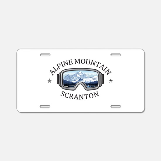 Alpine Mountain Ski & Ride Aluminum License Plate