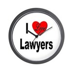 I Love Lawyers Wall Clock