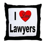 I Love Lawyers Throw Pillow