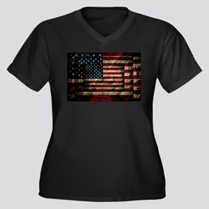 American Leather Flag Plus Size T-Shirt