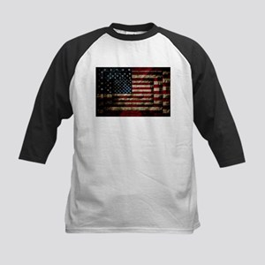 American Leather Flag Baseball Jersey