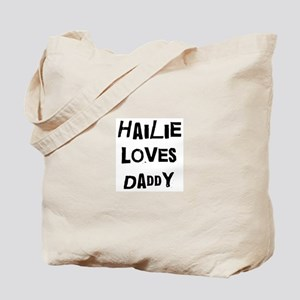 Hailie loves daddy Tote Bag
