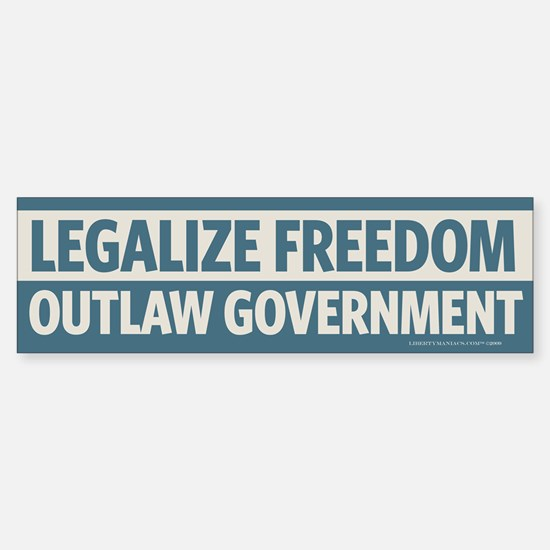 Legalize Freedom Bumper Bumper Bumper Sticker