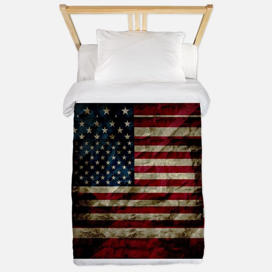 American Leather Flag Twin Duvet Cover
