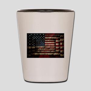 American Leather Flag Shot Glass