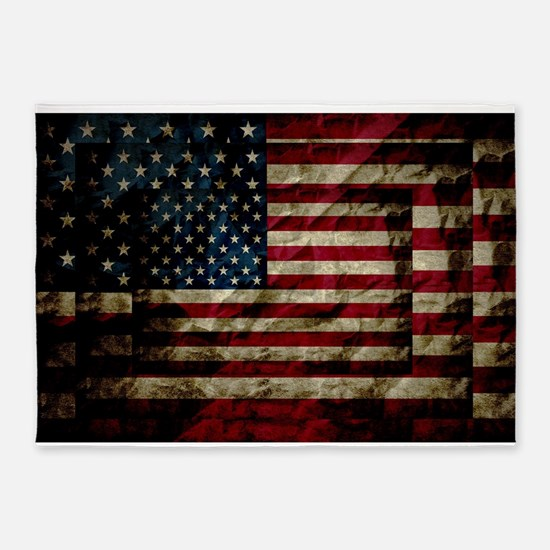 American Leather Flag 5'x7'Area Rug