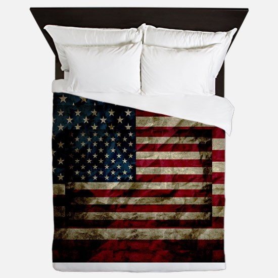 American Leather Flag Queen Duvet