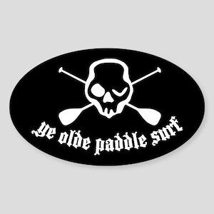 Ye Olde Paddle Surf Black Oval Sticker
