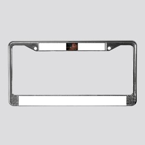 American Leather Flag License Plate Frame
