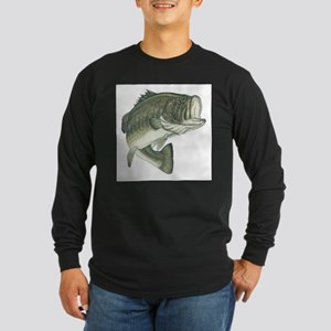 Large Mouth Bass (Front only) Long Sleeve Dark T-S