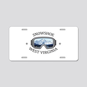 Snowshoe Mountain - Snows Aluminum License Plate
