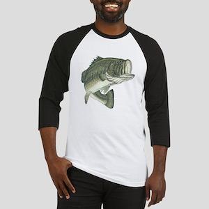 Large Mouth Bass (Front & back) Baseball Jersey