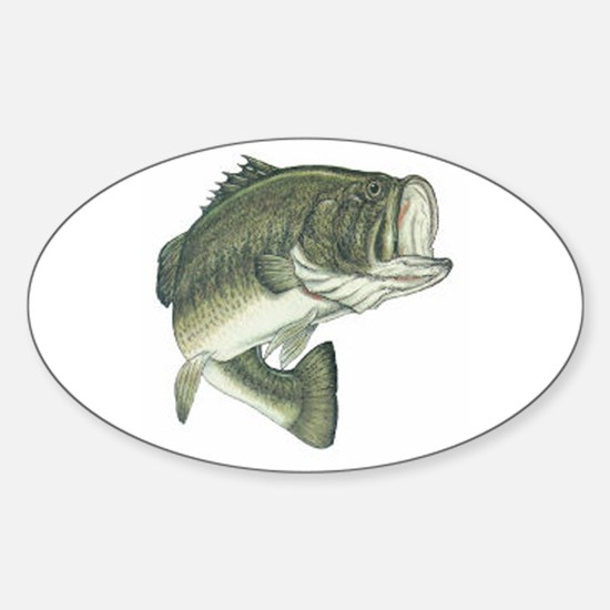 Large Mouth Bass Oval Bumper Stickers