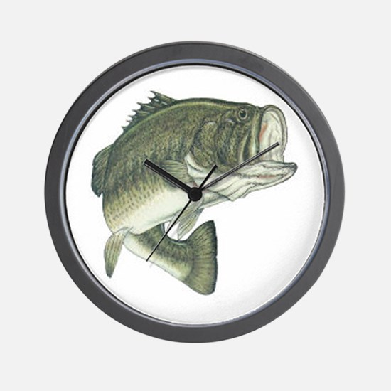 Large Mouth Bass Wall Clock