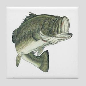 Large Mouth Bass Tile Coaster