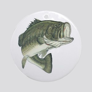 Large Mouth Bass Ornament (Round)