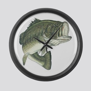 Large Mouth Bass Large Wall Clock