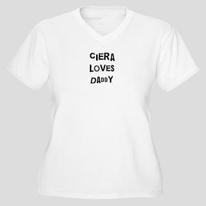 Ciera loves daddy Women's Plus Size V-Neck T-Shirt