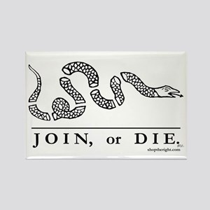 Join or Die Rectangle Magnet