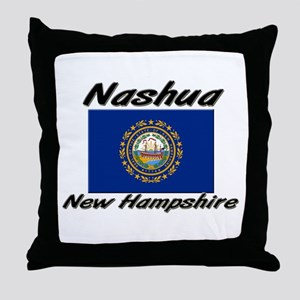 Nashua New Hampshire Throw Pillow
