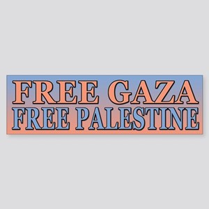 Free Palestine Free Gaza Bumper Sticker