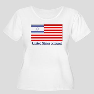 United States of Israel Women's Plus Size Scoop Ne