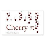 Cherry Pi Rectangle Sticker